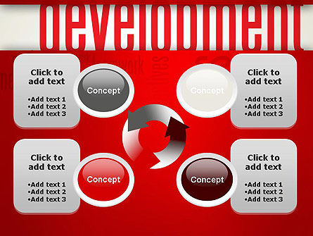 Development Word Cloud PowerPoint Template Slide 9