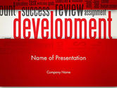 Business Concepts: Development Word Cloud PowerPoint Template #12959