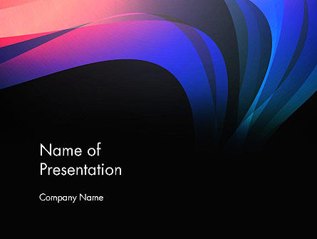 Abstract Northern Lights PowerPoint Template, 12960, Abstract/Textures — PoweredTemplate.com