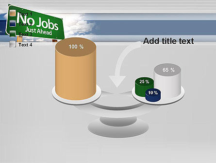 No Jobs Green Road Sign PowerPoint Template Slide 10