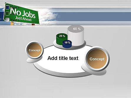 No Jobs Green Road Sign PowerPoint Template Slide 16