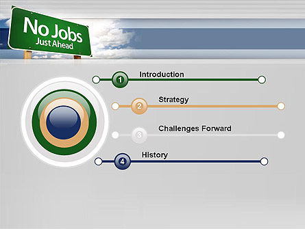 No Jobs Green Road Sign PowerPoint Template, Slide 3, 12961, Consulting — PoweredTemplate.com