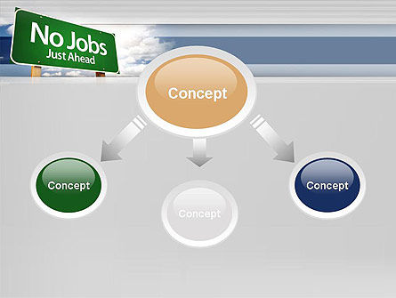 No Jobs Green Road Sign PowerPoint Template, Slide 4, 12961, Consulting — PoweredTemplate.com