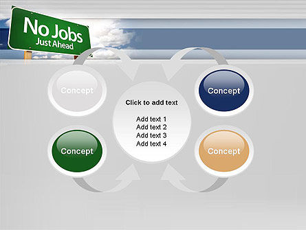 No Jobs Green Road Sign PowerPoint Template Slide 6