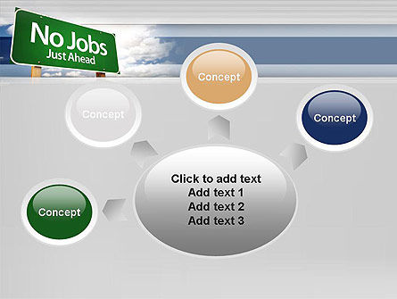 No Jobs Green Road Sign PowerPoint Template Slide 7