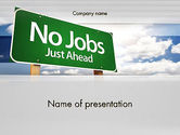 Consulting: No Jobs Green Road Sign PowerPoint Template #12961