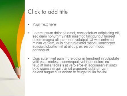Creative Pencil Concept PowerPoint Template, Slide 3, 12964, Art & Entertainment — PoweredTemplate.com