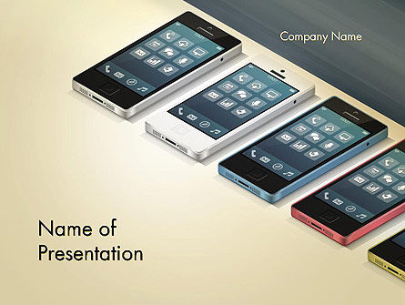Series Smartphones PowerPoint Template