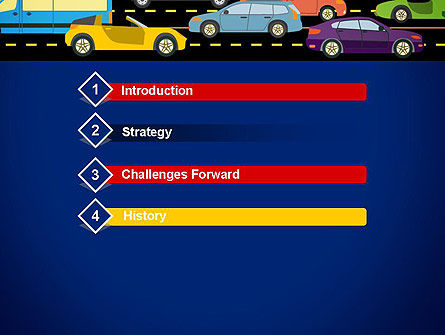 City Traffic Illustration PowerPoint Template Slide 3