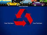 City Traffic Illustration PowerPoint Template#10