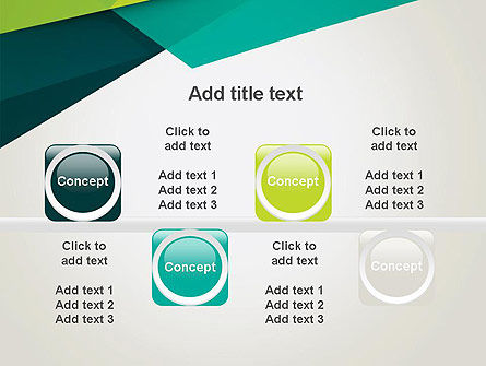 Abstract Folded Layers PowerPoint Template Slide 18