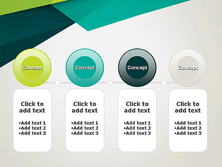 Abstract Folded Layers PowerPoint Template Slide 5