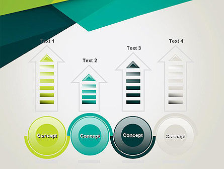 Abstract Folded Layers PowerPoint Template Slide 7