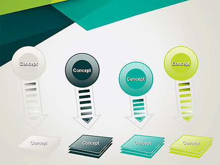Abstract Folded Layers PowerPoint Template Slide 8