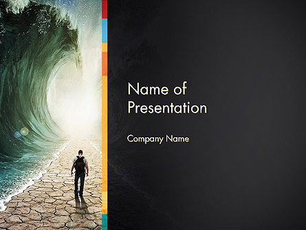 Walking Through The Water PowerPoint Template