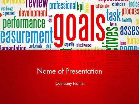 Key Performance Indicators Word Cloud PowerPoint Template