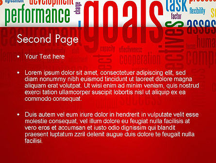 Key Performance Indicators Word Cloud PowerPoint Template Slide 2