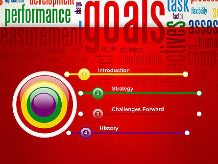 Key Performance Indicators Word Cloud PowerPoint Template Slide 3