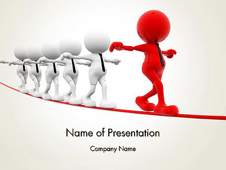 Great Leader PowerPoint Template, 12974, Education & Training — PoweredTemplate.com