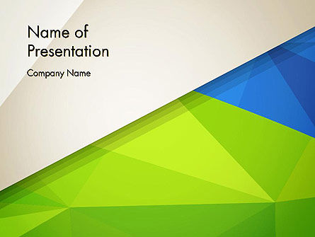Abstract Triangular Layers PowerPoint Template, 12975, Abstract/Textures — PoweredTemplate.com