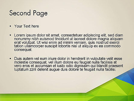Abstract Triangular Layers PowerPoint Template Slide 2