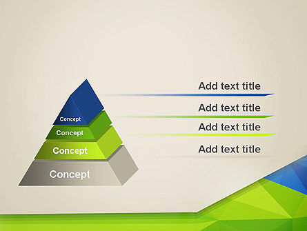 Abstract Triangular Layers PowerPoint Template Slide 4