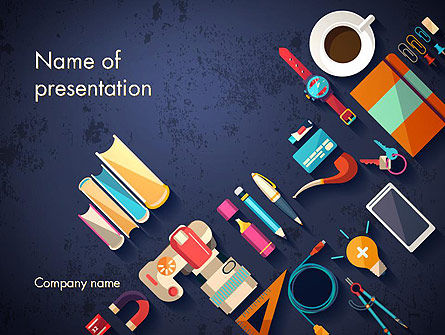 Office Stationery PowerPoint Template, 12977, Business Concepts — PoweredTemplate.com