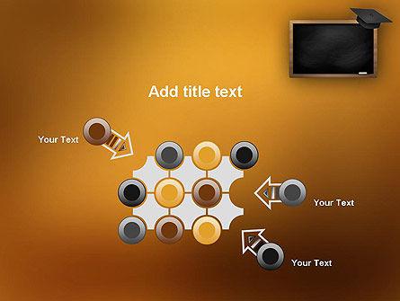 Blackboard with Mortarboard PowerPoint Template Slide 10