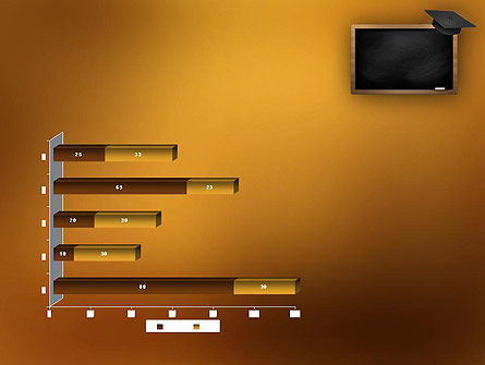 Blackboard with Mortarboard PowerPoint Template Slide 11