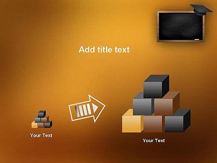 Blackboard with Mortarboard PowerPoint Template Slide 13