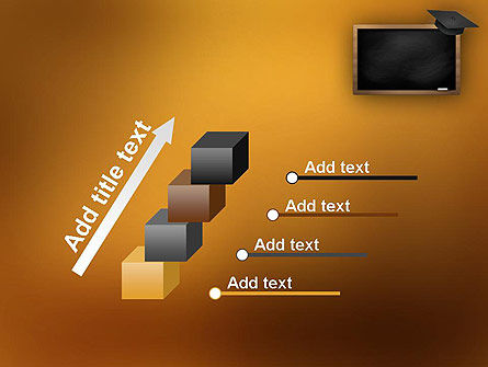 Blackboard with Mortarboard PowerPoint Template Slide 14