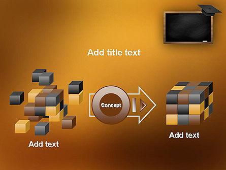 Blackboard with Mortarboard PowerPoint Template Slide 17