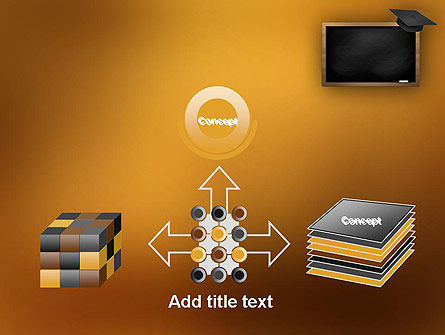 Blackboard with Mortarboard PowerPoint Template Slide 19