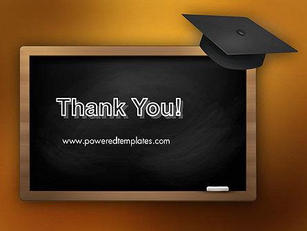 Blackboard with Mortarboard PowerPoint Template Slide 20