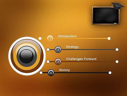 Blackboard with Mortarboard PowerPoint Template Slide 3