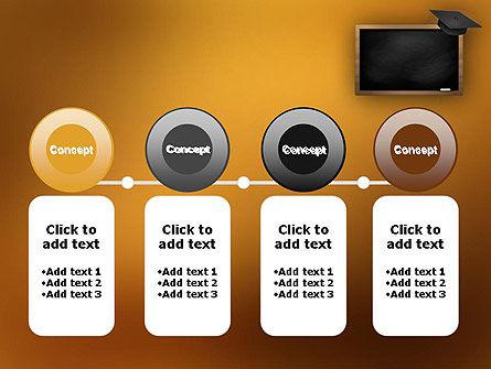 Blackboard with Mortarboard PowerPoint Template Slide 5