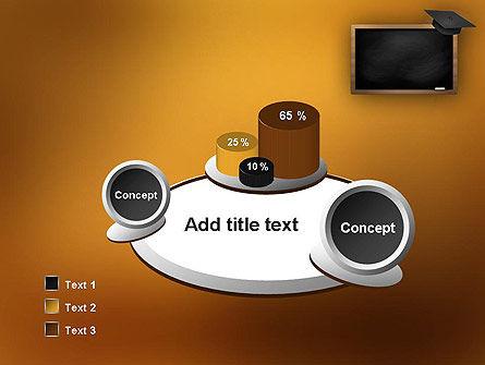 Blackboard with Mortarboard PowerPoint Template Slide 6