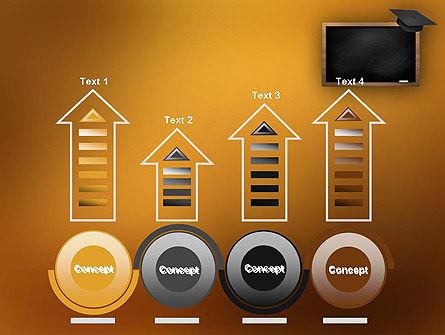 Blackboard with Mortarboard PowerPoint Template Slide 7