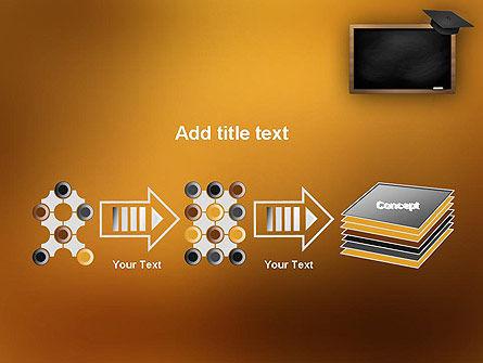 Blackboard with Mortarboard PowerPoint Template Slide 9