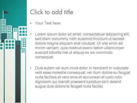 Sun Over the City PowerPoint Template, Slide 3, 12980, Construction — PoweredTemplate.com