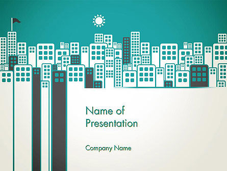 Sun Over the City PowerPoint Template