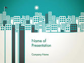 Construction: Sun Over the City PowerPoint Template #12980