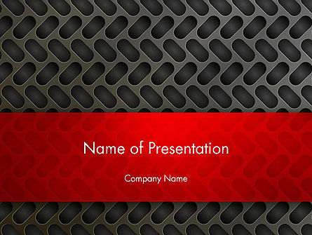 Metal Surface with Vents PowerPoint Template, 12981, Abstract/Textures — PoweredTemplate.com