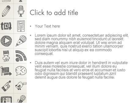 Doodle Icons Background PowerPoint Template, Slide 3, 12983, Business — PoweredTemplate.com