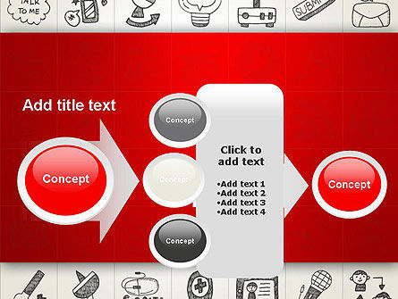 Doodle Icons Background PowerPoint Template Slide 17