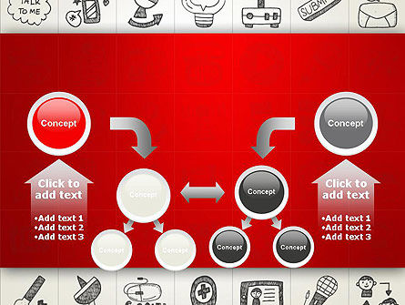 Doodle Icons Background PowerPoint Template Slide 19