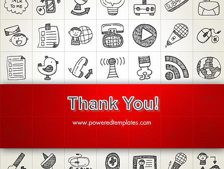 Doodle Icons Background PowerPoint Template Slide 20
