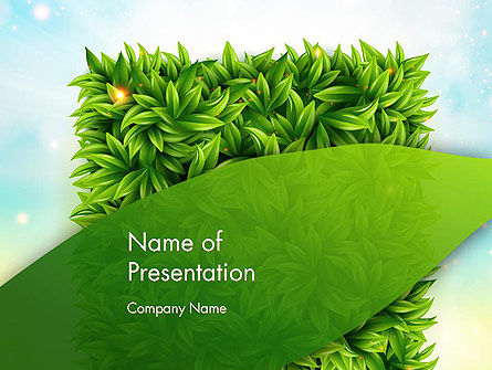 Leaves Background PowerPoint Template, 12984, Nature & Environment — PoweredTemplate.com
