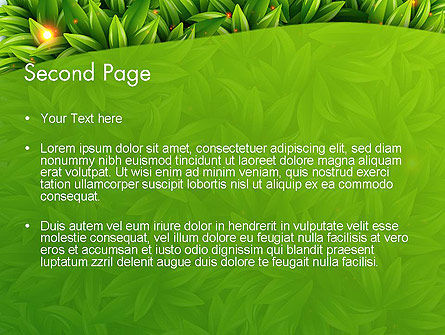 Leaves Background PowerPoint Template, Slide 2, 12984, Nature & Environment — PoweredTemplate.com