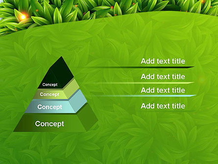 Leaves Background PowerPoint Template, Slide 4, 12984, Nature & Environment — PoweredTemplate.com